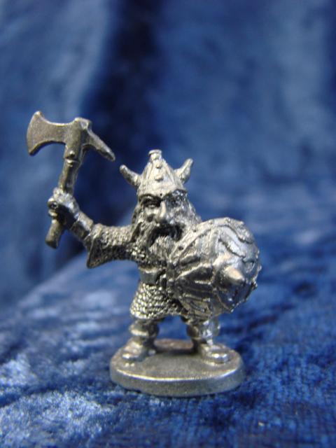 Dragon Engine Ring Scene Menu: Dwarf Pewter Figurine
